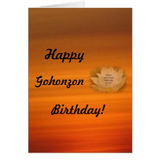 Buddhism del SGI de la tarjeta de cumpleaños de