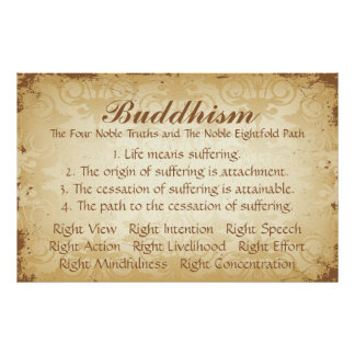 Buddhism Four and Eight Poster