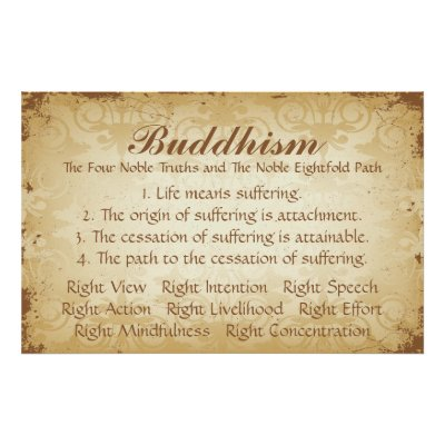 Four Noble Truths Buddhism Poster | Zazzle