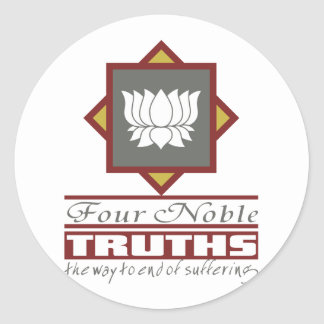 Buddhism Four Noble Truths Classic Round Sticker