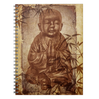 Buddhism Monk - antique style Spiral Notebook