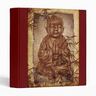 Buddhism Monk - background brown Binder