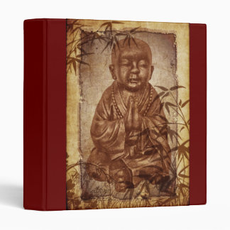 Buddhism Monk - background brown Vinyl Binder