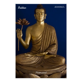 "Buddhism ""Namaste"" Fine Art Poster Posters"