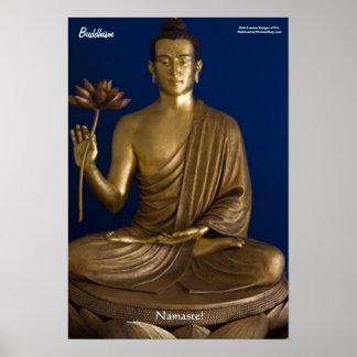 "Buddhism ""Namaste"" Fine Art Poster Posters"