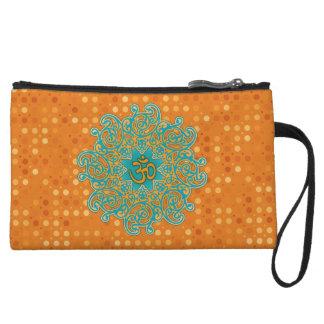 Buddhism Om (aum) mandala clutch bag Wristlet Purses