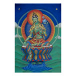 Buddhism Poster Green Tara Tibetan Goddess Buddha