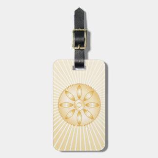Buddhism Symbol Luggage Tag