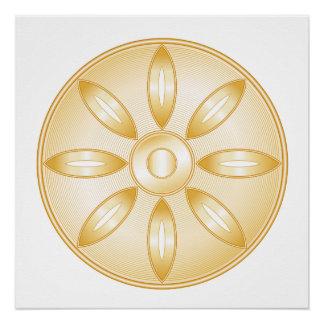 Buddhism Symbol Poster