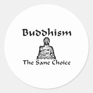Buddhism The Sane Choice Stickers