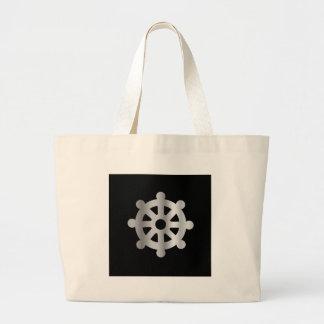 buddhism wheel of dharma.jpg tote bags
