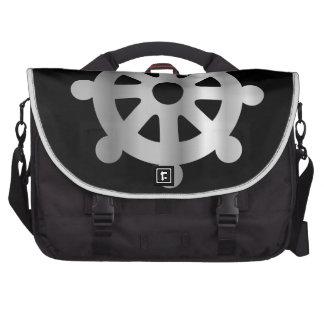 buddhism wheel of dharma.jpg laptop commuter bag