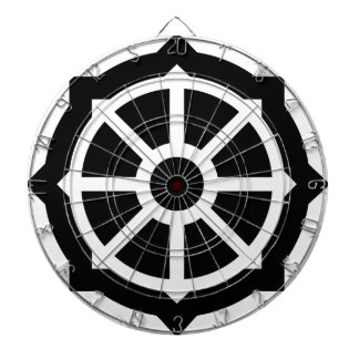 Buddhism (Wheel Of Dharma) Symbol Dartboard With Darts