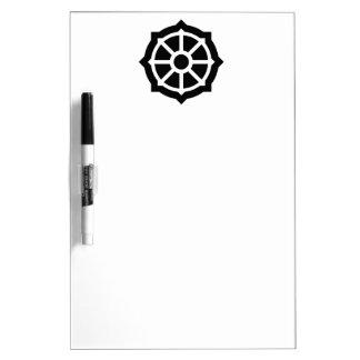 Buddhism (Wheel Of Dharma) Symbol Dry-Erase Whiteboards
