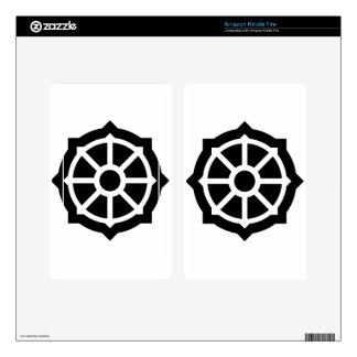 Buddhism (Wheel Of Dharma) Symbol Kindle Fire Skin