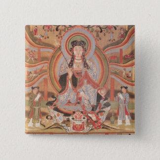 Buddhist banner button