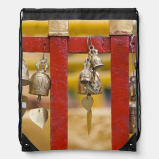 Buddhist Bells at Doi Suthep Temple Drawstring Backpack