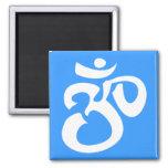Buddhist Calligraphic Aum Symbol Fridge Magnet