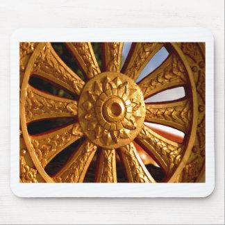 Buddhist Chariot Wheel Mousepads