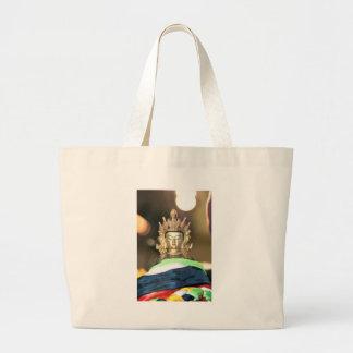 Buddhist Chenrezig Statue Large Tote Bag