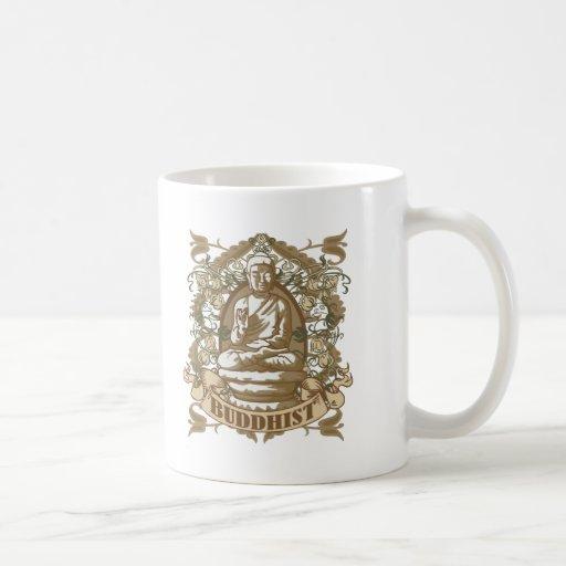 Buddhist Classic White Coffee Mug