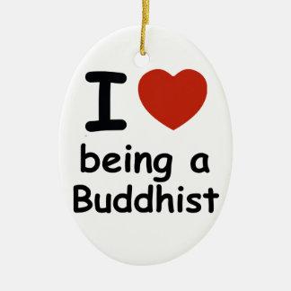 Buddhist design ceramic ornament