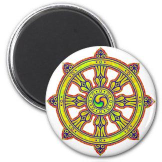 Buddhist Dharma Chakra Magnet