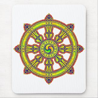Buddhist Dharma Chakra Mouse Pad
