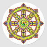 Buddhist Dharma Chakra Sticker