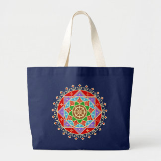 Buddhist Dharma Wheel Mandala Bag