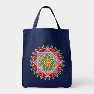 Buddhist Dharma Wheel Mandala Canvas Bags