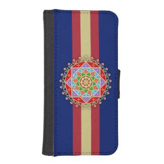 Buddhist Dharma Wheel Mandala iPhone SE/5/5s Wallet Case