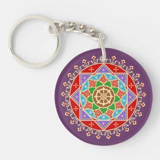 Buddhist Dharma Wheel Mandala Key Chains