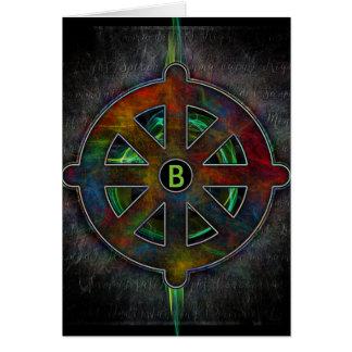 Buddhist Dharma Wheel of Energy Greeting Card