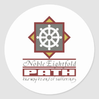 Buddhist Eightfold Path Classic Round Sticker