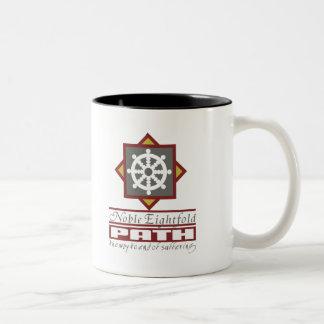 Buddhist Eightfold Path Two-Tone Coffee Mug