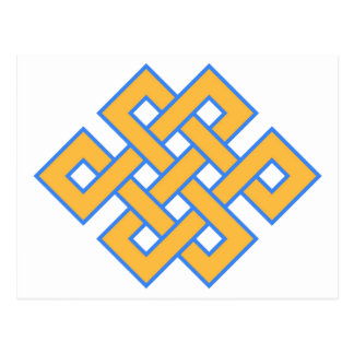 Buddhist Endless Knot Auspicious Symbol Postcard
