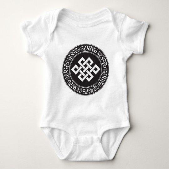 Buddhist Endless Knot Baby Bodysuit