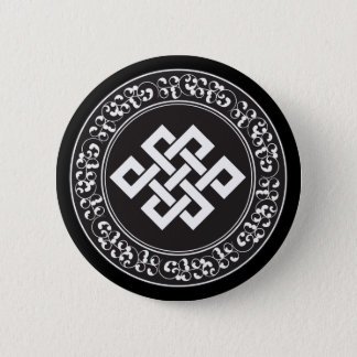 Buddhist Endless Knot Button