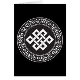 Buddhist Endless Knot Card
