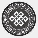 Buddhist Endless Knot Classic Round Sticker