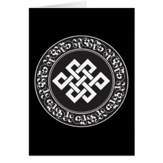 Buddhist Endless Knot Greeting Cards