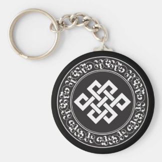 Buddhist Endless Knot Keychain