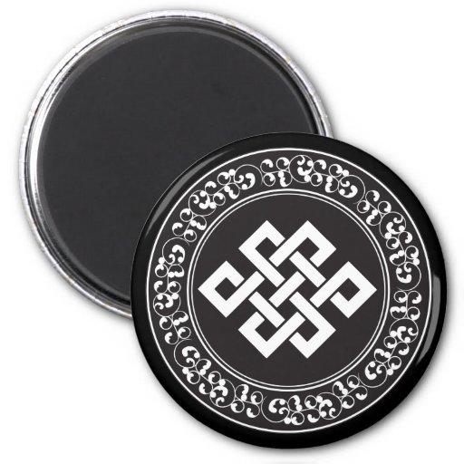 Buddhist Endless Knot Fridge Magnet