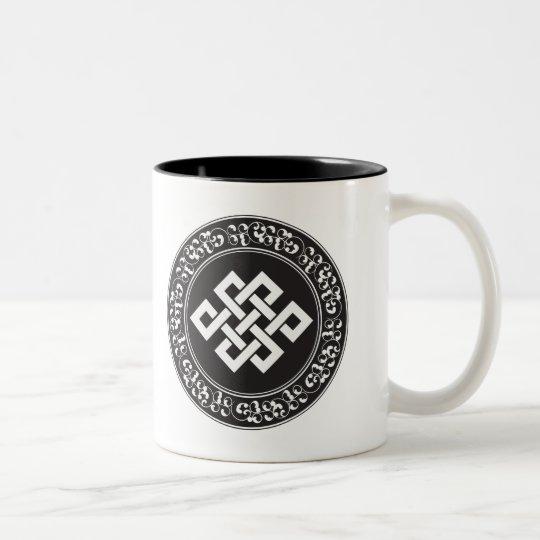 Buddhist Endless Knot Two-Tone Coffee Mug