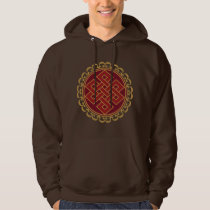 Buddhist Endless or Eternal Knot Pattern Hoodie