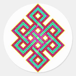 Buddhist Eternal Knot Classic Round Sticker