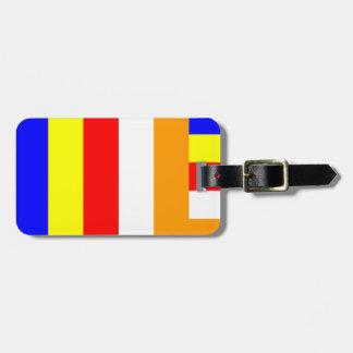 Buddhist Flag Luggage Tag