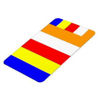 Buddhist Flag Magnet