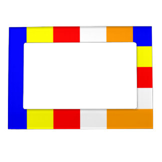 Buddhist Flag Magnetic Picture Frame